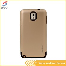 2016 guangzhou Wholesale Gold color custom phone cases for samsung galaxy note 3