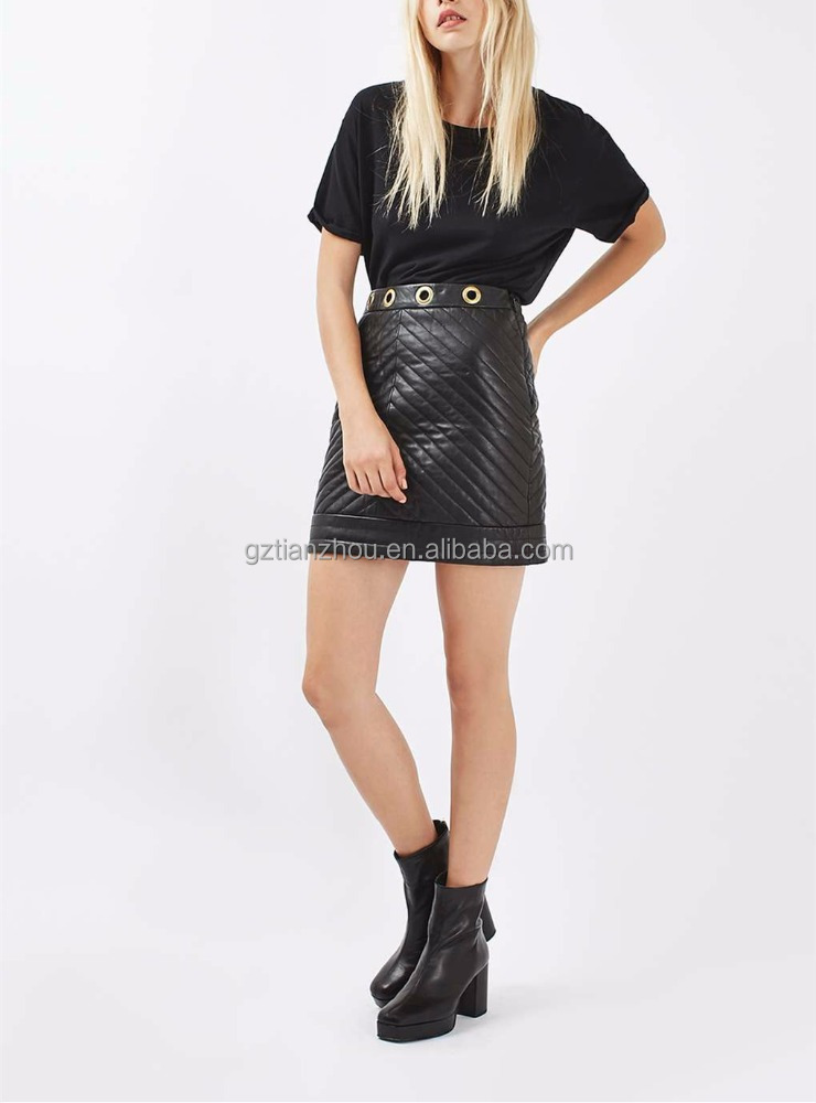 OEM Young Girls In Short Skirt Leather Skirt