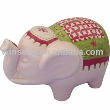 Lovely light pink elephant design ceramic piggy money bank