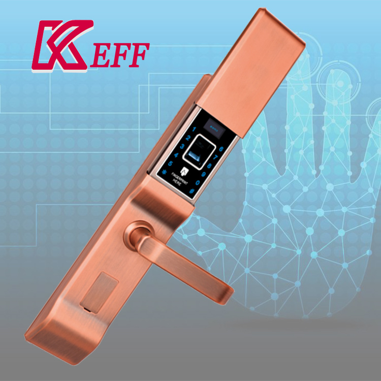 Hot sale & high quality korea rfid digital fingerprint door lock body 68mm