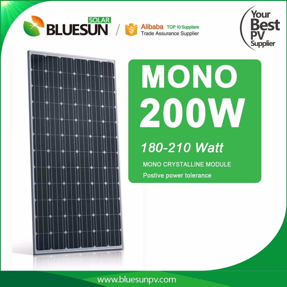 Bluesun cheap price and high quality solar panel home 200w 220w 54cell