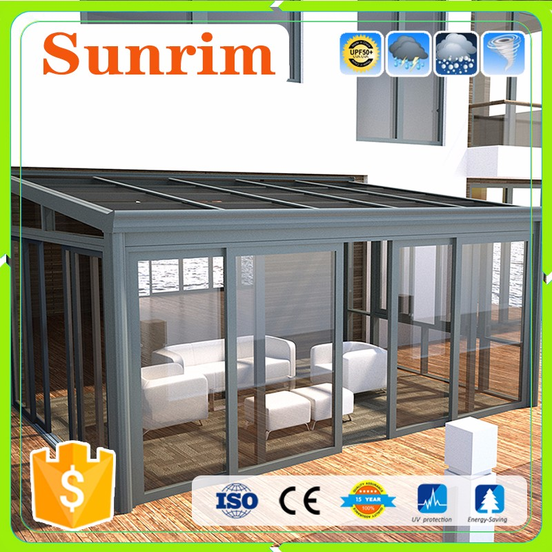 Top Quality Simlple Design Aluminum Alloy Tempered Glass sunroom kits prices