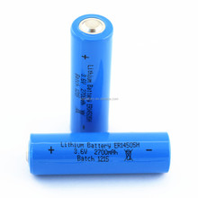 Energy type AA size Li-Socl2 ER14505h 3.6V 2700mAh lithium battery