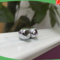 Mirror Polished Stainless Steel or Chrome Steel Solid Ball with M6 Thread Hole