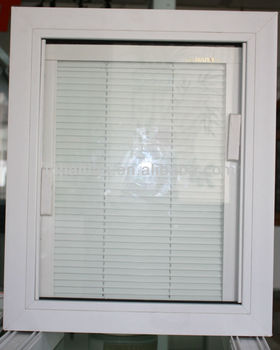 pvc window with built-in blinds