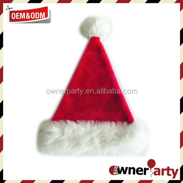 Hot Sale Factory Price High Quality Adult Promotion Plush Dancing Christmas Hats