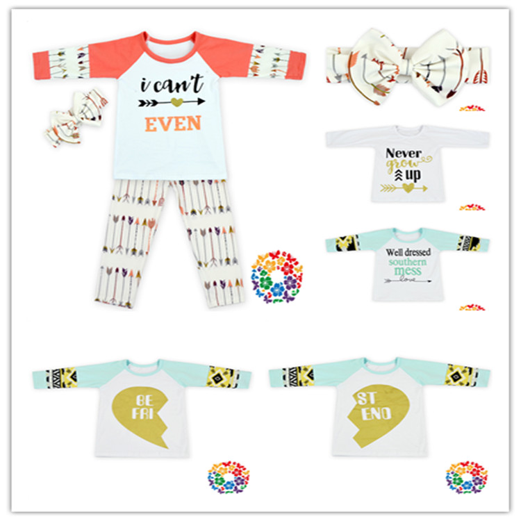 International Kids Wear Brands New Style Printing Fall Clothes High Quality Clothing Importers Baby's Clothing