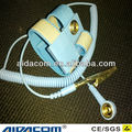 With coiled cord ,Blue anti-allergic ESD wrist strap