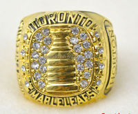 2014 the latest version of 18 k gold plated Toronto hockey championship rings