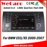 Top Version Android 4.4.4 car dvd 2 din double din radio tv tuner for bmw e39 e53 mirror link tv tuner 2000-2007