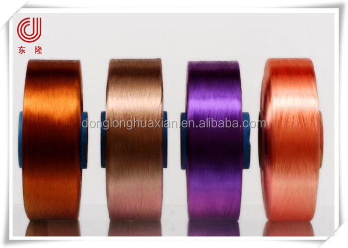 Polyester yarn FDY bright yarn dope dyed polyester filament yarn buy direct from china factory
