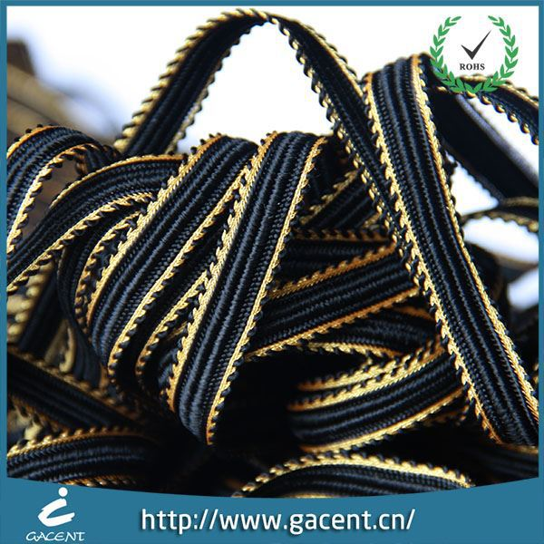 Colour 100% Polyester 1.2cm Piping Ribbon