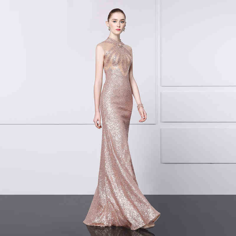 Rose Gold Lace Evening Cocktail Formal Party Ball Bridesmaid Prom Gown Dress