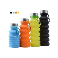Wholesales Hot <strong>Sports</strong> Travel Portable Foldable Silicone Collapsible Water Bottles