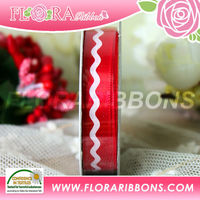 Christmas chevron printed ribbon