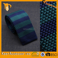 classic design fashion stripes knitted tie for men