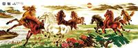 2014 sell good home goods oil painting of horses by menglei oil painting numbers