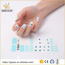 nails supply hot sale beauty color tip finger nail art sticker decal