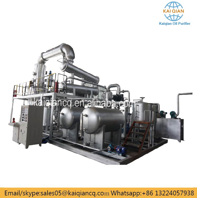 Continuous Waste Motor Oil Lube Oil Distillation Plant/ Used Engine Oil Recycling