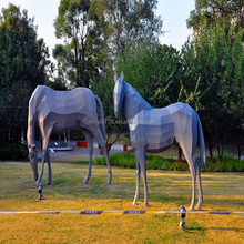New design Simulation Animal Statues Lifesize Fiberglass Horse
