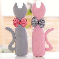 2 pieces/lot Cat Cloth doll cotton cloth Lovers cats Creative at home decorate Wedding gift Girlfriend valentine's day Kids Toys