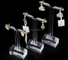 2017 Hot Sale Clear Acrylic Earrings Display Holder