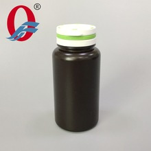 150ml Black Cylinder Round Dietary Supplements Pharmaceutical HDPE Plastic Bottle with Tamper Evident Tearing Pop Up Lids