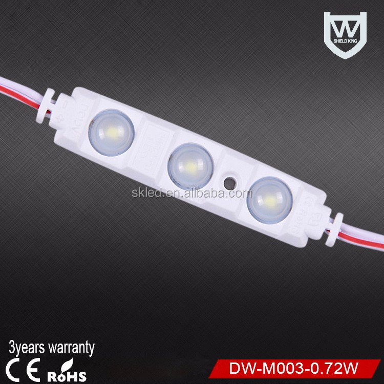 Samsung 5730 led chip 1.5W ce rohs smd 3 led modules IP65waterproof led injection modules DC12V