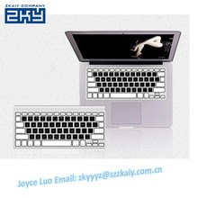 ZKY-0053 Waterproof Black And White Silicone Keyboard Cover For Typing Thin Wireless Keyboard For Imac Keyboard Protector