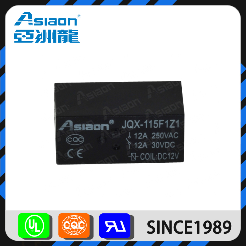 Asiaon miniature 12v 115f pcb air conditioner relay