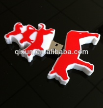 pvc material wholesale 1/32/64/128/256/512MB 1/2/4/8/16/32/64/128/256/512GB 1/2TB bulk horse shape usb flash drive
