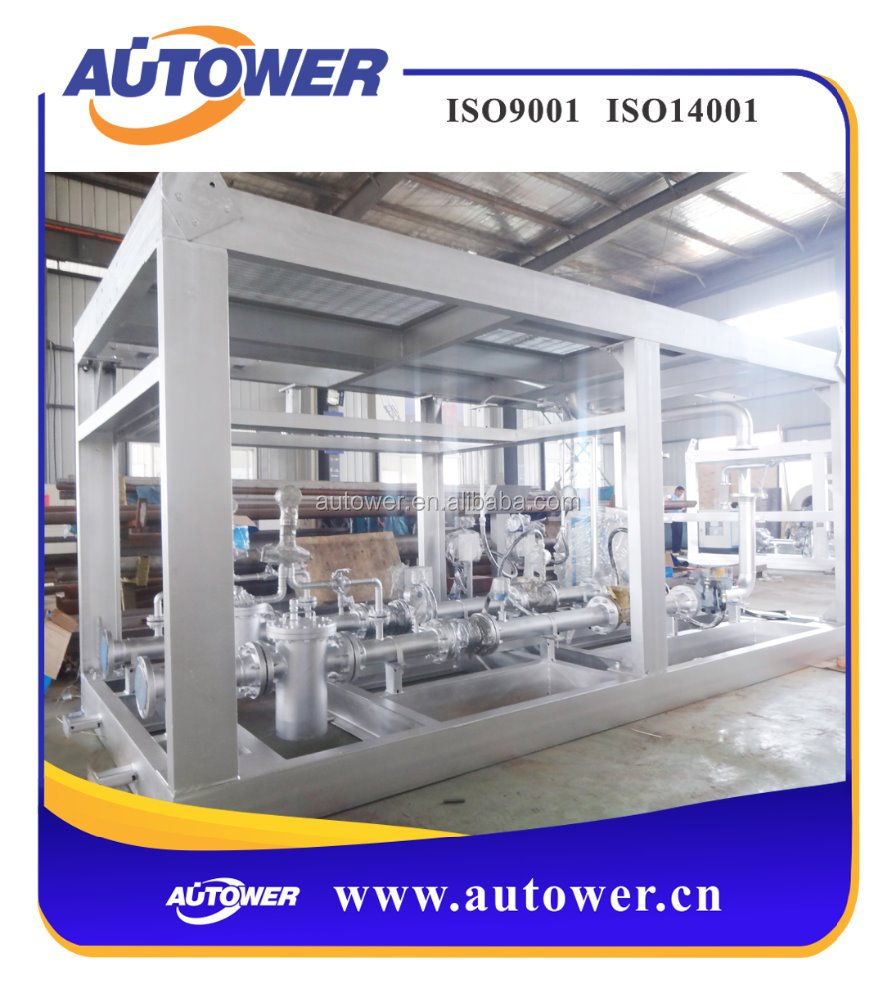 skid-mounted oil gas water three phase separator with quantitative supervision system