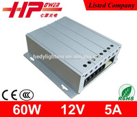 CE ROHS 12 v power supply single output constant voltage High Quality Aluminum Case 12v 5 amp power supply