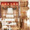 embroidered sheer home curtains, curtain fabrics turkey, curtain tassel, curtain with valance