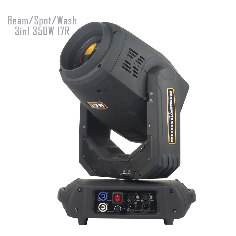 350W 17R Beam Spot Wash 3in1 Moving Head Beam Light