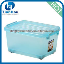 clear plasitc storage containers for buttons with wheels and lid