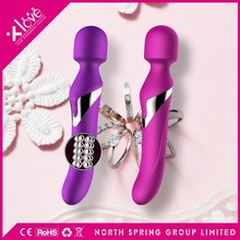 female full body sex toys stainless steel beads electric massage dildo