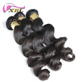 XBL factory virgin brazilian cuticle aligned human hair womens toupee loose wave