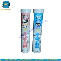 dietary supplements effervescent tube with desiccant cap and unrivalled offset printing made in GMP plant