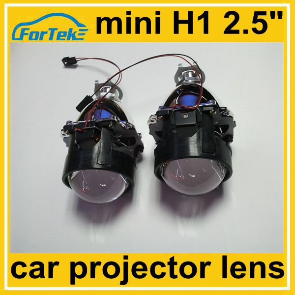auto restoration accessory 2.5 inch mini car projector lens h1