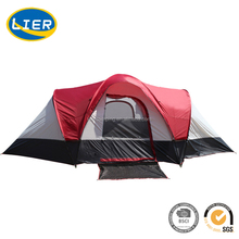 double layer 5~8 person two bedrooms camping glamping tent