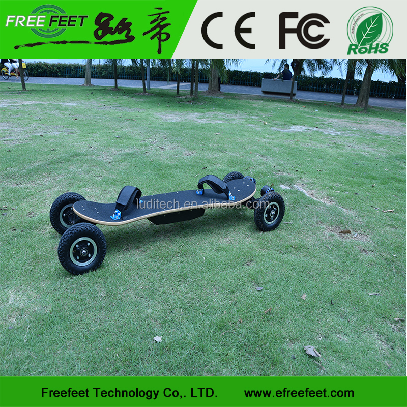 FREEFEET Dual Drive Electric Skateboard Four Wheel Electric Mountain Long Board 1650W For Adults