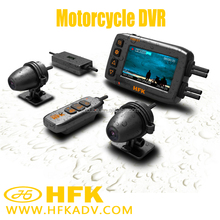 Dual lens motorcycle/car camera DVR 1080P with GPS