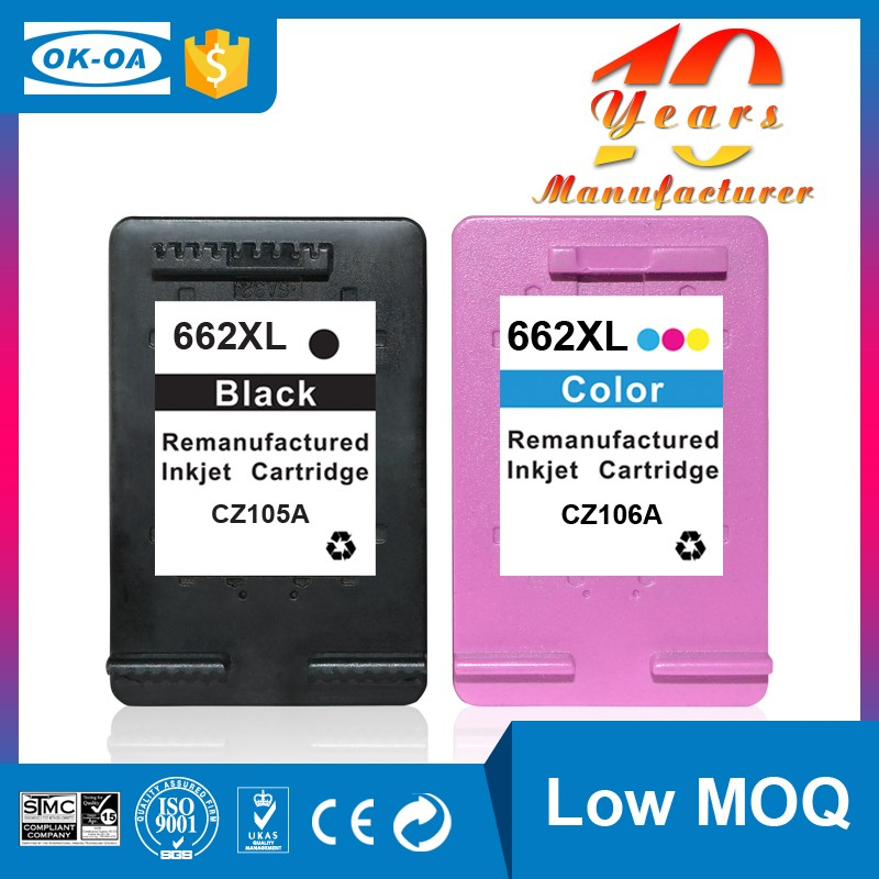 nice reputation on color ink cartridge chip reset to full level ink cartridge for hp 662 Deskjet <strong>1015</strong> 1016