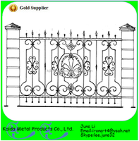 high quality wrought cast iron fence and balconies