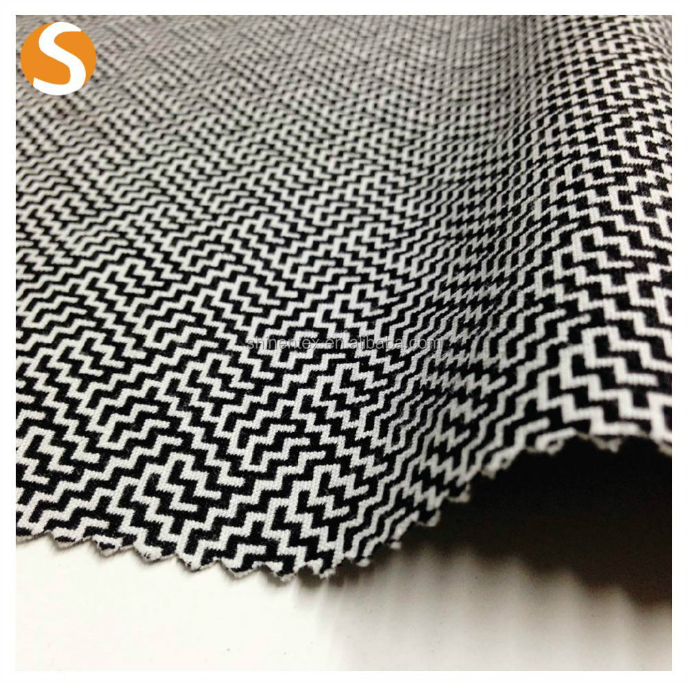 Hot Sell Polyester Cotton Spandex woven Jacquard Fabric for Garment