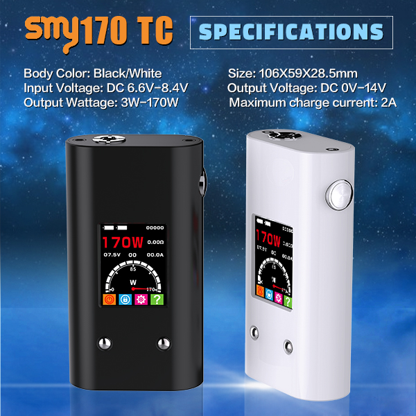 no wick e-cigarette /*/vape best selling products vape smy 170w tc box mod e cigarette emily buy e-cigarette,