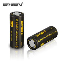 Original Basen 26650 battery Rechargeable lithium 3.7V rechargeable li ion battery 18650 26650