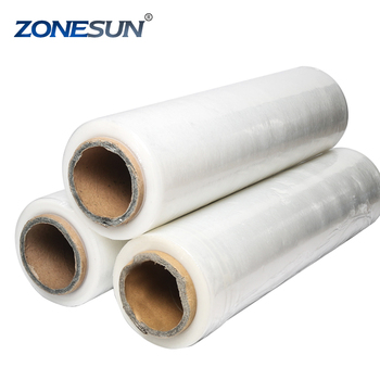 ZONESUN LLDPE transparent silicone coated pet stretch Shrink Wrapping film