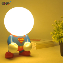 Creative lamp Geek turned Superman Batman style USB LED Light